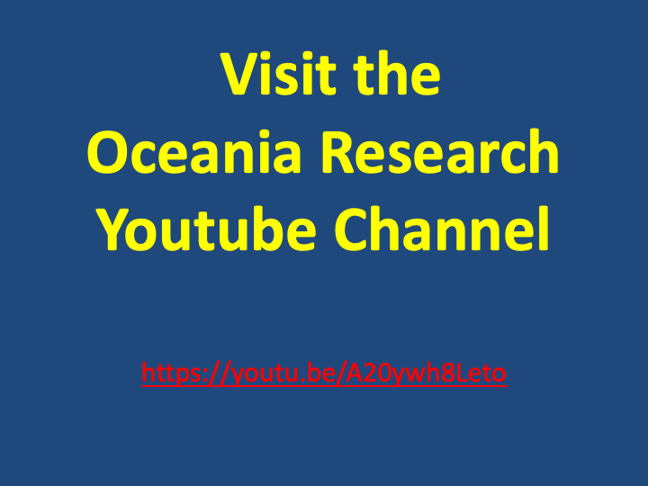 Oceania Research Youtube